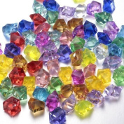 Worldoor® Pack of 60pcs Multi-Coloured Acrylic Diamonds Pirate Treasure Jewels for Pirate Party Supplies Decoration,Costume Stage Props,Vase Fillers