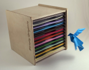 Origami Folding Paper Case Box Organiser - 15cm square sheets - by Strictly Origamic