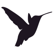 Pack of 3 Hummingbird Stencils Made from 4 Ply Mat Board 11x14, 8x10, 5x7