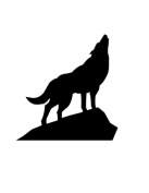 Pack of 3 Wolf on Rock Stencils Made from 4 Ply Mat Board 11x14, 8x10, 5x7
