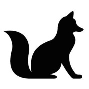 Pack of 3 Fox Stencils Made from 4 Ply Mat Board 11x14, 8x10, 5x7