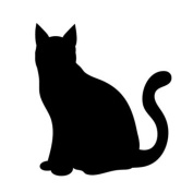 Pack of 3 Cat Stencils Made from 4 Ply Mat Board 11x14, 8x10, 5x7