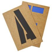 Westcott Letter Craft Oil Board Lettering Stencil Kit, 30cm