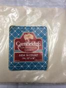 Aida 14 Count - Cream - 30cm x 46cm - Cross Stitch Fabric by Cambridge