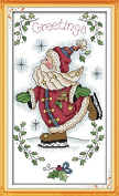 Queenlink 11CT Santa Claus #7 Cross Stitch Embroidery Diy Sewing Kit