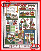 Queenlink 11CT Christmas Gift Cross Stitch Embroidery Diy Sewing Kit