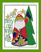 Queenlink 11CT Santa Claus k231 Cross Stitch Embroidery Diy Sewing Kit