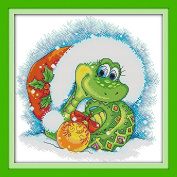 Queenlink 11CT A Snake in Christmas Cross Stitch Embroidery Diy Sewing Kit