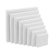 US Art Supply Professional Quality Stretched Canvas 350ml Primed Variety Pack Square Pyramid Assortment (8-Total Canvases 1-Each