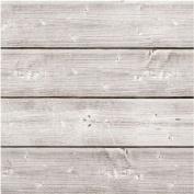 Jillibean Soup Mix The Media Wooden Plank 15cm x 15cm X1.2220cm - 15cm x 15cm X1.2220cm Weathered White