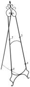 Displays2go EASSCRL65B Double Floor Easel, Holds 2 Frames, 170cm Tall, Folding/Adjustable Design