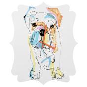 DENY Designs Casey Rogers Bulldog Colour Quatrefoil Clock, Medium