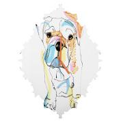 DENY Designs Casey Rogers Bulldog Colour Baroque Clock, Medium