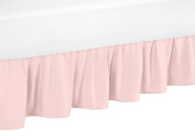 Blush Pink Toddler Bed Skirt for Girls Amelia Collection Kids Childrens Bedding Sets