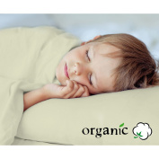 100% Organic Toddler Sheet Set includes Eco Pillow Toddler size