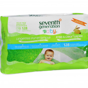 Seventh Generation Baby Wipes - Free and Clear Refill - 128 ct - Case of 6