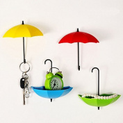 Bescar Colourful Umbrella Key Holder, Key Hanger,Wall Key Rack,Wall Key Holder,Key Organiser For Keys, Jewellery And Other Small Items