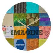 DENY Designs Elizabeth St Hilaire Nelson Imagine 2 Round Clock, 30cm Round