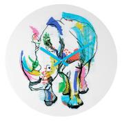 DENY Designs Casey Rogers Rhino Colour Round Clock, 30cm Round