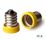 E-Simpo® 15-pack E12 to E11 Adapter,E12 to E11 Lamp Base Converter, Z1071
