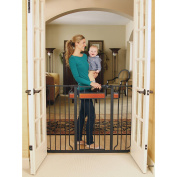 Regalo Home Accents Extra-Tall Baby Gate with New Zealand Pine Wood with 2 Included Extension Kits