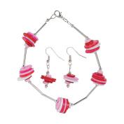 Valentine Button Bracelet & Earrings Craft Kit