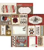 Hound Dog Double Sided Cut Apart 12x12 Journaling Cardstock - 5 Sheets