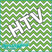 CHEVRON PATTERN #2 HTV Green & White Heat Transfer Vinyl 30cm x 36cm Chevron Stripes for Shirts