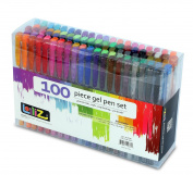 LolliZ Gel Pens 100 Gel Pen Tray Set