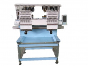 NEW, two heads compact embroidery machine, full size, 15 needles, New Style, Cap, T-shirt, no interfere area, less problems, 5-year parts warranty