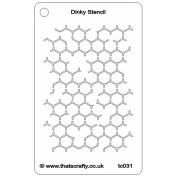 That's Crafty Dinky Stencil 7.6cm x 12cm -Reverse Honeycomb Background