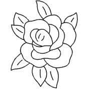 15cm x 20cm Rose Quilting Stencil by QCI - 404