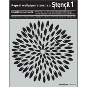 Stencil1 S1_PA_86 Exotic Mum Pointy Petals Stencil, 28cm by 28cm , White
