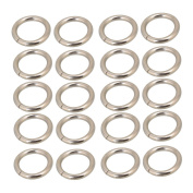 Belt Buckle,Ideaker Silvery Metal Heavy Welded O Ring O Shaped for Purses Bags Backpack Straps Pack of 20 2CM