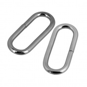 Buckle Loop Ring,Ideaker 2mm Inside Dia Silvery Metal Iron Plating Oval for Purse Belt Bag Straps Pack of 20