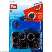 PRYM-Consumer Prym 541384 Eyelets With Washers Size 14mm Inside; Black Oxidised, 10 Pieces