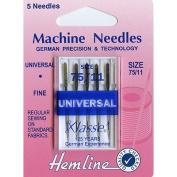 Hemline H100.75 | Fine/Med Universal/Slight Ballpoint Machine Needles | 5x 75/11