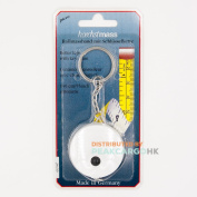 Germany 150cm/ 60inch Flexible Mini Pocket-Roller Tape Measure with Keychain - Individual Blister Card