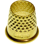 Lacis RQ62 14MM Open Top Tailor's Thimble, 14mm, Brown