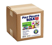 Poly Pellets for Weighted Blankets Bulk 11kg Box Non-Toxic, Premium Quality Made in the USA for Rock Tumbling, Stuffing & Filling Dolls, Crafts, Corn Hole Bags, Hand Toss Bean Bags