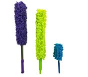 Microfiber Hand Dusters Set  3-Pack  1x Telescopic/Extendable Ceiling Duster, 1x Bendable Duster & 1x Mini Telescopic Duster For Car Use  Heart & Abode House, Kitchen & Automotive Cleaning Supplies
