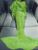 YiZYiF Mermaid Tail Knitted Blanket Soft Cosy Sleeping Bag for Adult Children Teen Kids