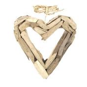 DRIFTWOOD OPEN HEART 8.5x 1.190cm x 22cm H
