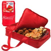 Budweiser Insulated Casserole Carrier- Game Day Appetiser Carrier - Portable Travel Tote (28cm x 43cm ) Keeps food HOT for up to 1 hour