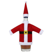 Santa Christmas Bottle Sets,Morecome Red Wine Cover with Christmas Hat and Clothes
