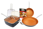 Gotham Steel Tastic Bundle 7 Piece Set Titanium Ceramic Pan, Copper