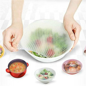 Super-HOT-Deals Reusable Silicone Food Wraps Seal Cover Stretch Multifunctional Food Fresh Keeping Saran Wrap Kitchen Tools 4pcs