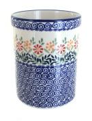 Polish Pottery Garden Bouquet Utensil Jar