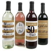 We Still Do - 50th Wedding Anniversary Wine Bottle Labels - Set of 4