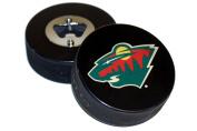 Minnesota Wild Basic Logo Hockey NHL Puck Bottle Opener